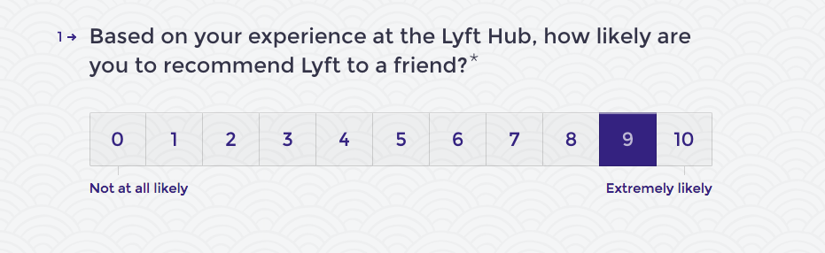lyft hub survey 1