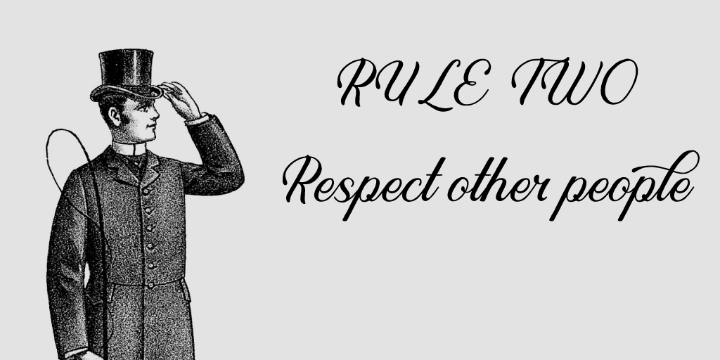queue respect other people
