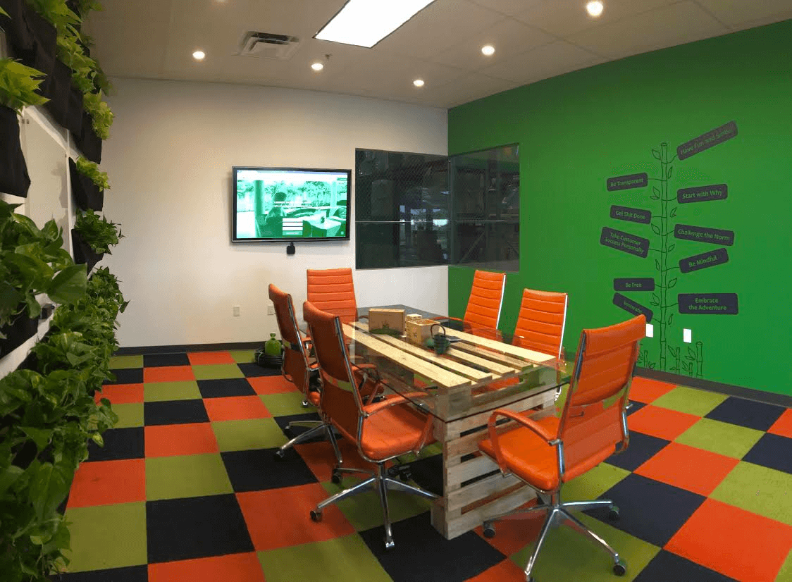 conference room at fulfillment center