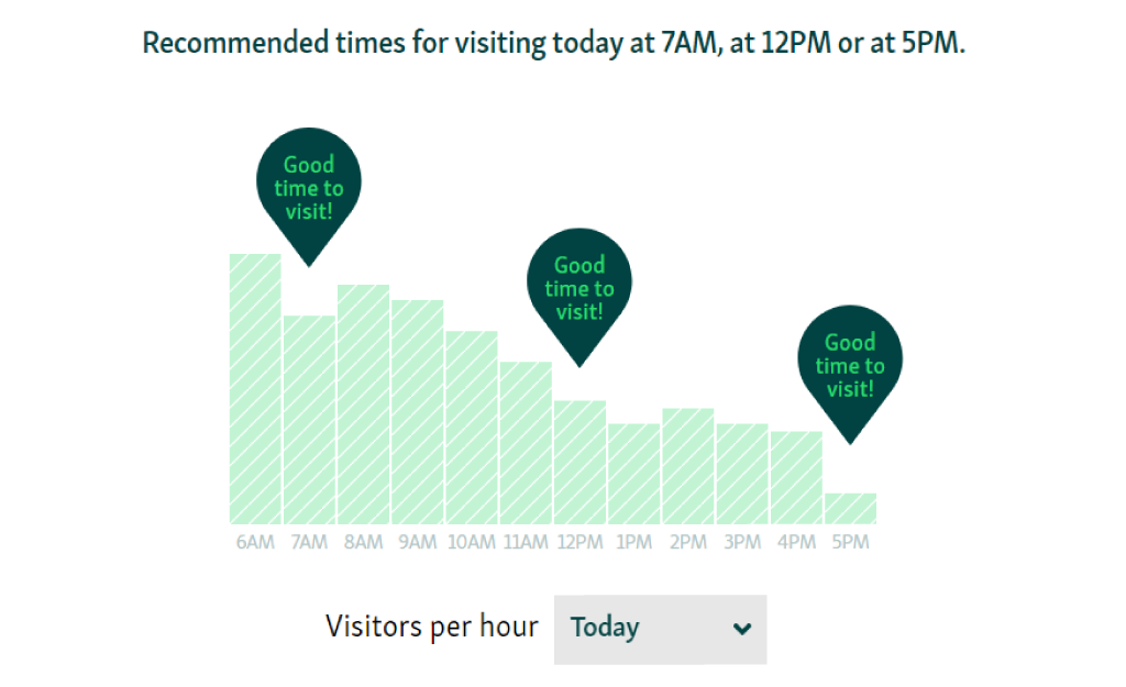 recommended time to visit business