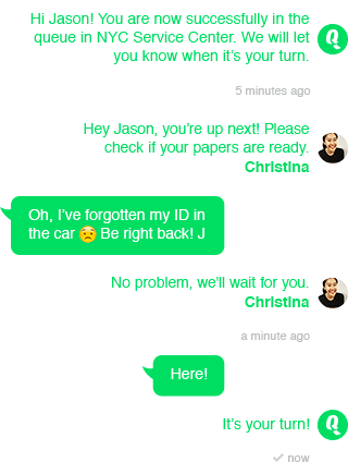 Queue Management with SMS Chat
