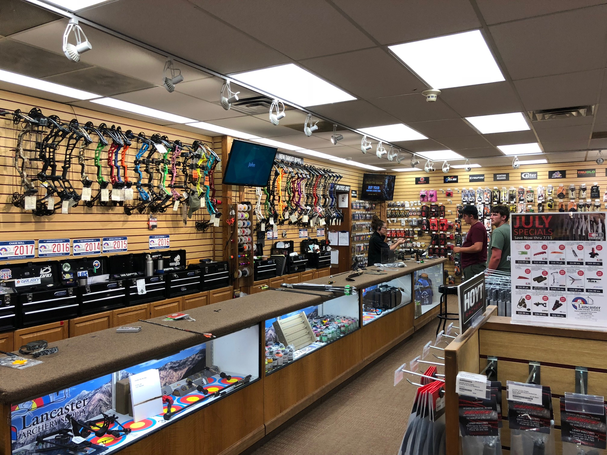 Qminder in Lancaster Archery Supply, USA