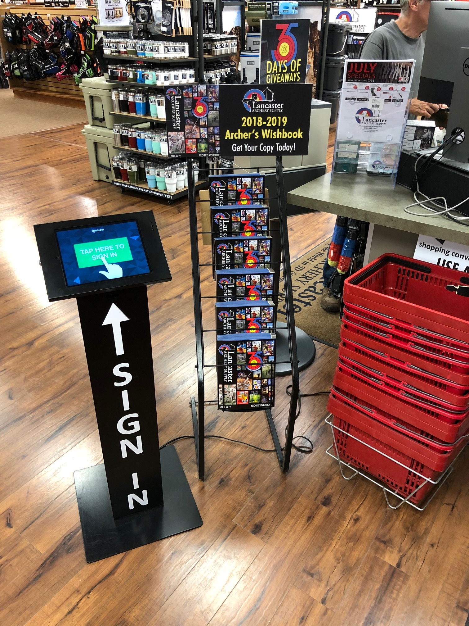 customer sign-in in retail