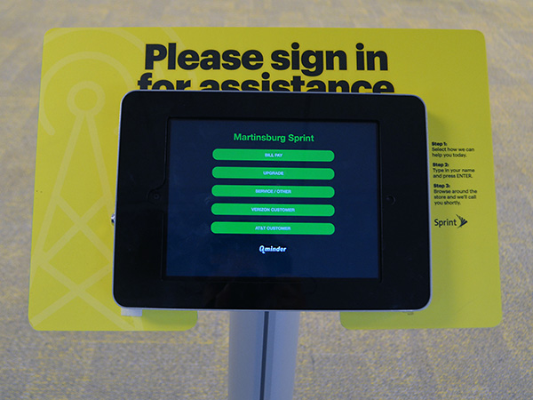 iPad sign-in app