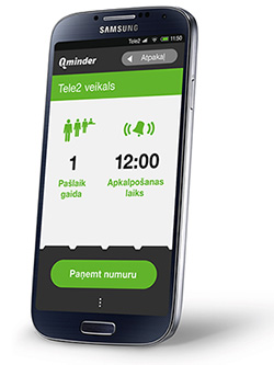 tele2 telecom using Qminder mobile app